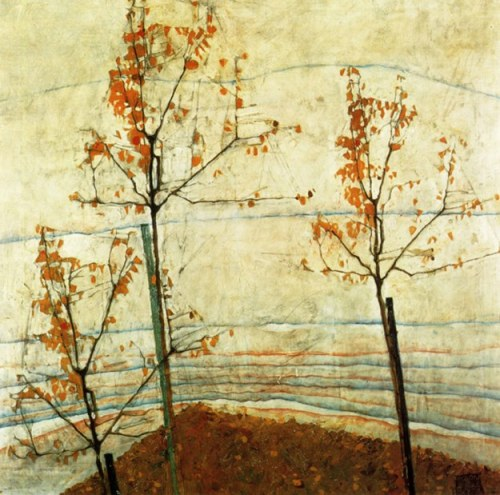 autumn-trees-1911-egon-schiele