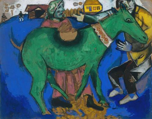 The Green Donkey 1911 by Marc Chagall 1887-1985