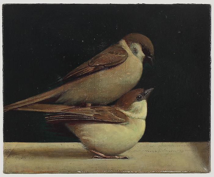 Liu Ye Birds, 2011 Acrylic on canvas 8 x 10 inches (22 x 27.5 cm)